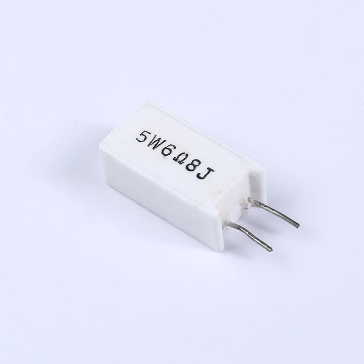 立式水泥电阻_5W SQM型立式白色陶瓷水泥电阻器【奥创电子】