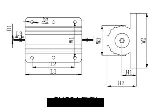 RXG24黄金铝壳电阻规格尺寸